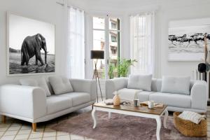 sofa de tela conforama