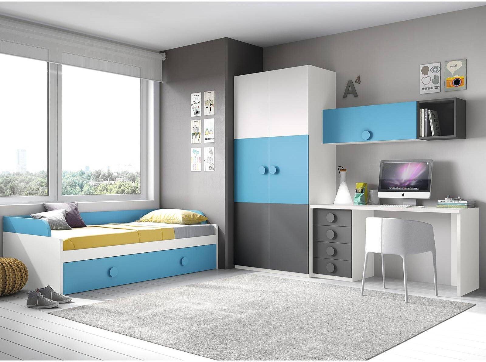 Los 5 mejores dormitorios juveniles con cama nido en for Cabeceros juveniles ikea