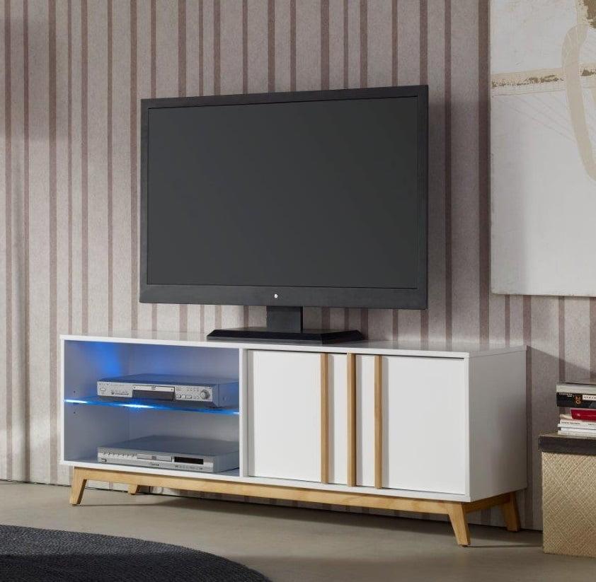 El mejor mueble tv de conforama prodecoracion - Mueble tv con ruedas ...