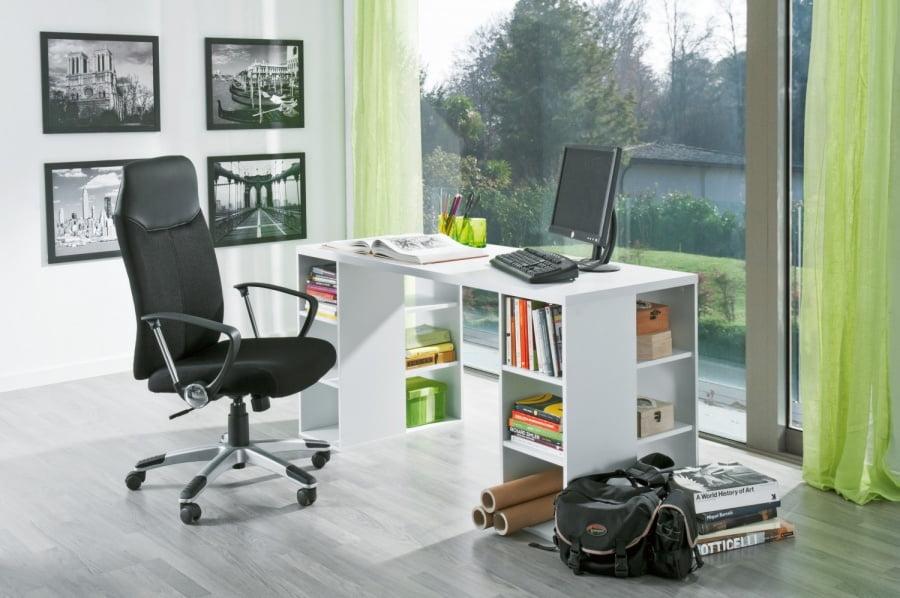 La mejor mesa de ordenador de conforama prodecoracion - Mesas estudio cristal ...