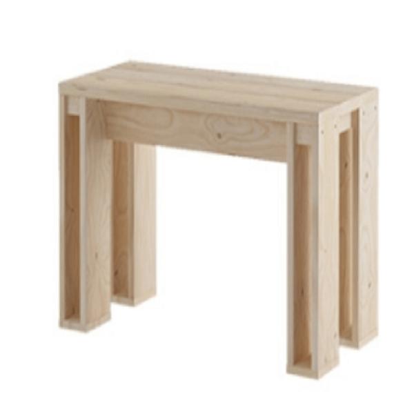 Bancos modernos de madera lufe