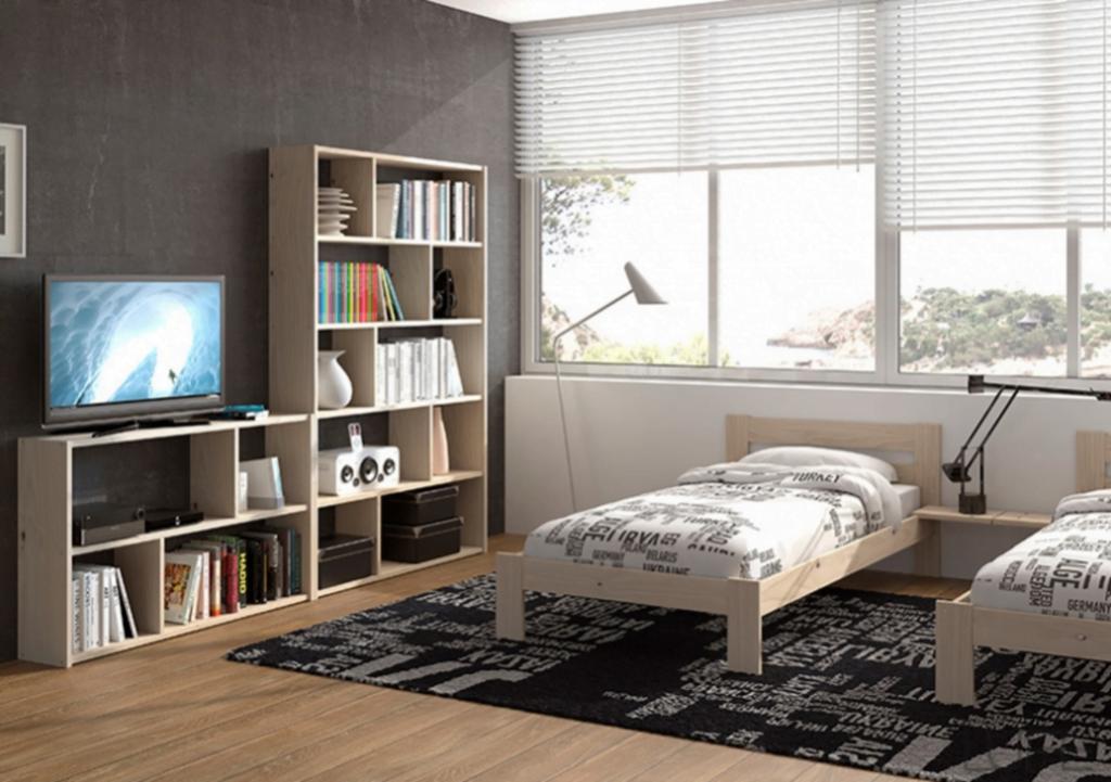 cama individual lufe con cajon