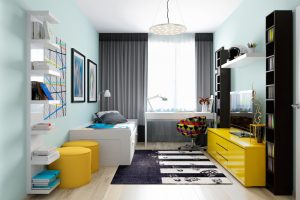 habitaciones juveniles blancas