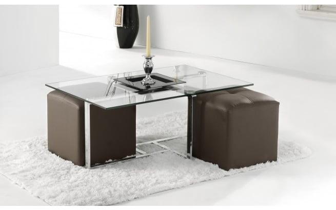 Mesas de centro cristal madera Muebles Room