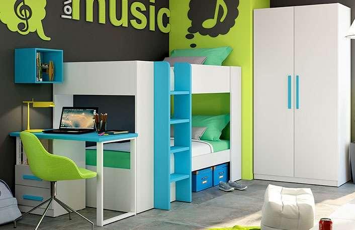El dormitorio perfecto con modernas literas de muebles - Boom de los muebles ...