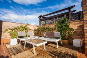 decoracion de terrazas pequeñas con plantas