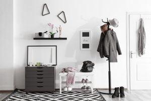 recibidor minimalista