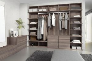 como hacer un vestidor barato en una habitacion