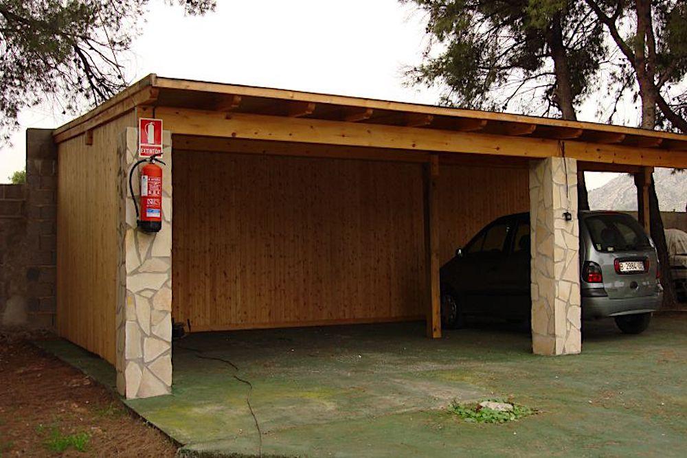 como hacer garaje de madera