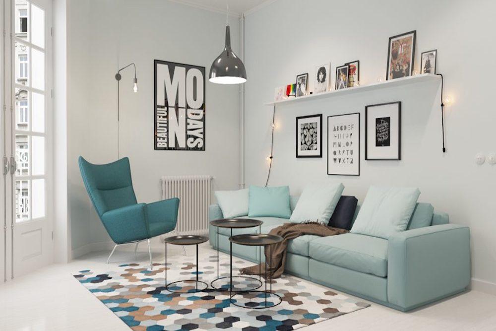 decoracion salon nordico low cost