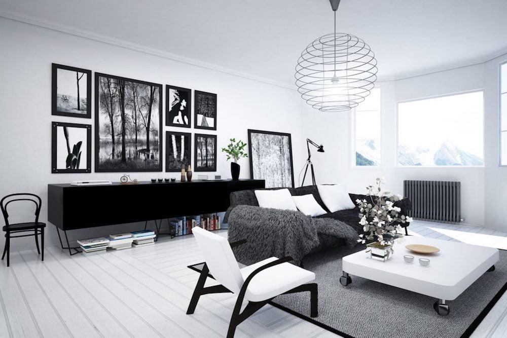 estilo nordico decoracion salon
