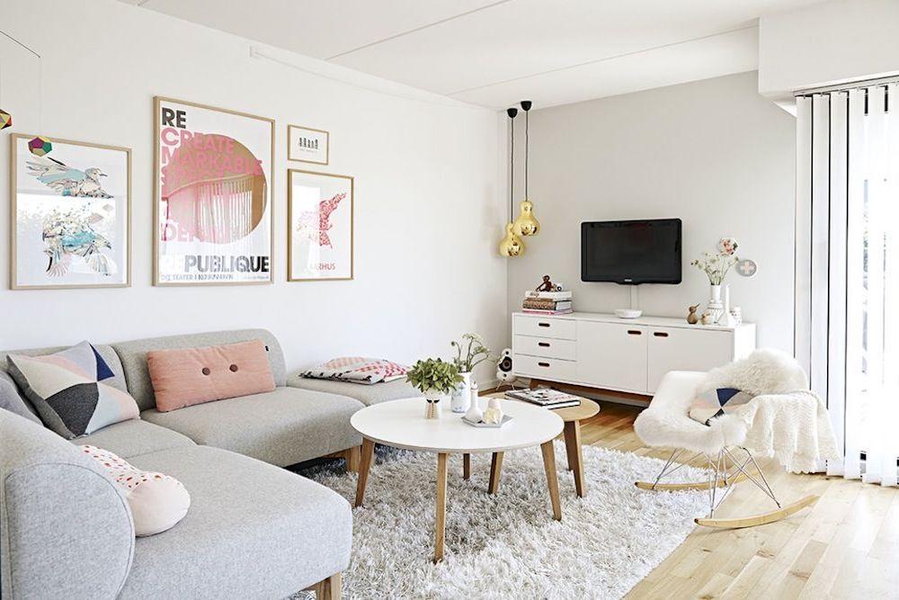 ideas decoracion salon nordico