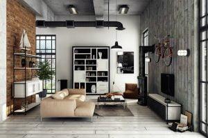 sala de estar tipo industrial