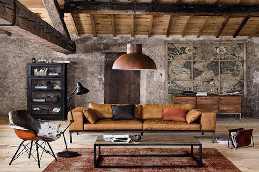 Las claves para construir un sal n industrial prodecoracion - Salon estilo industrial ...