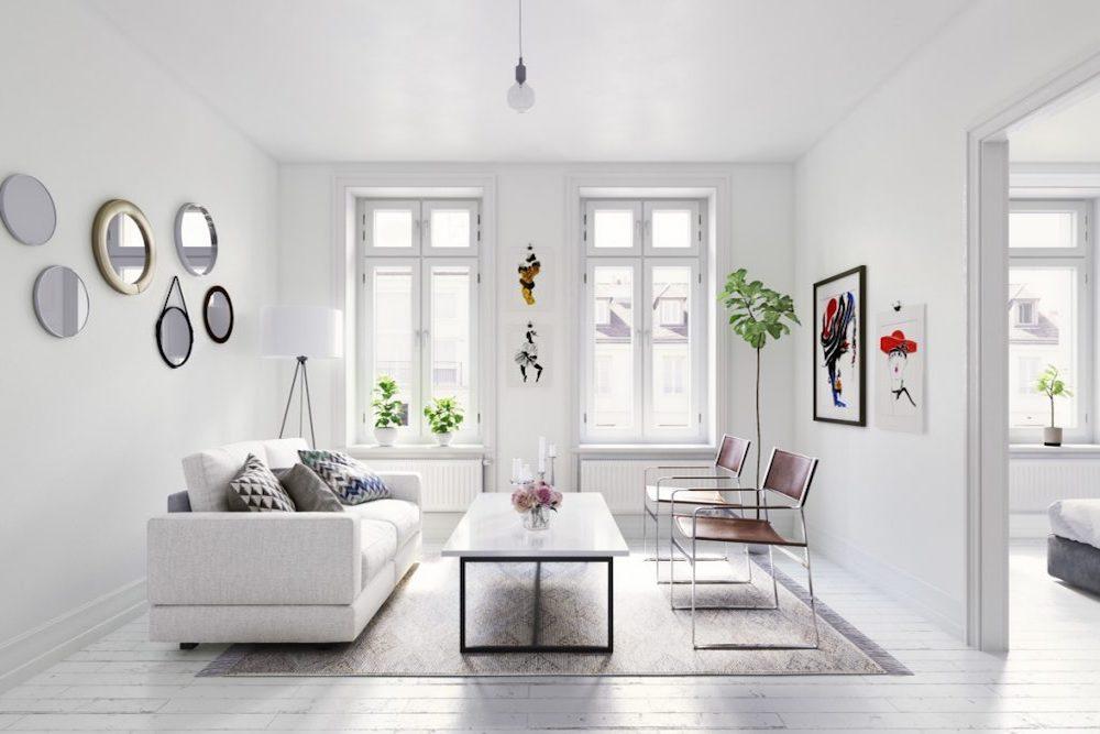 decorar salon minimalista