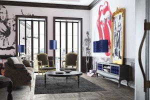diseño de interiores salas contemporaneas
