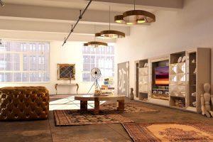 diseño de sala de estar contemporánea
