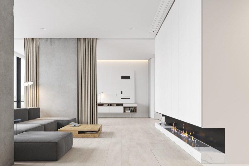 estilo minimalista salon