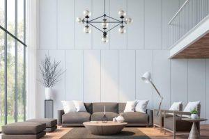 iluminacion salon minimalista