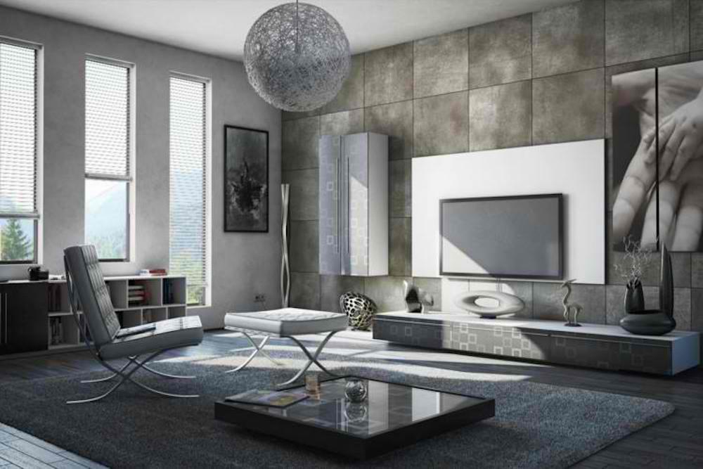 salon de diseño minimalista