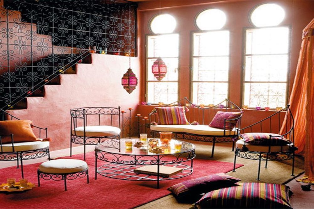 como decorar un salon arabe