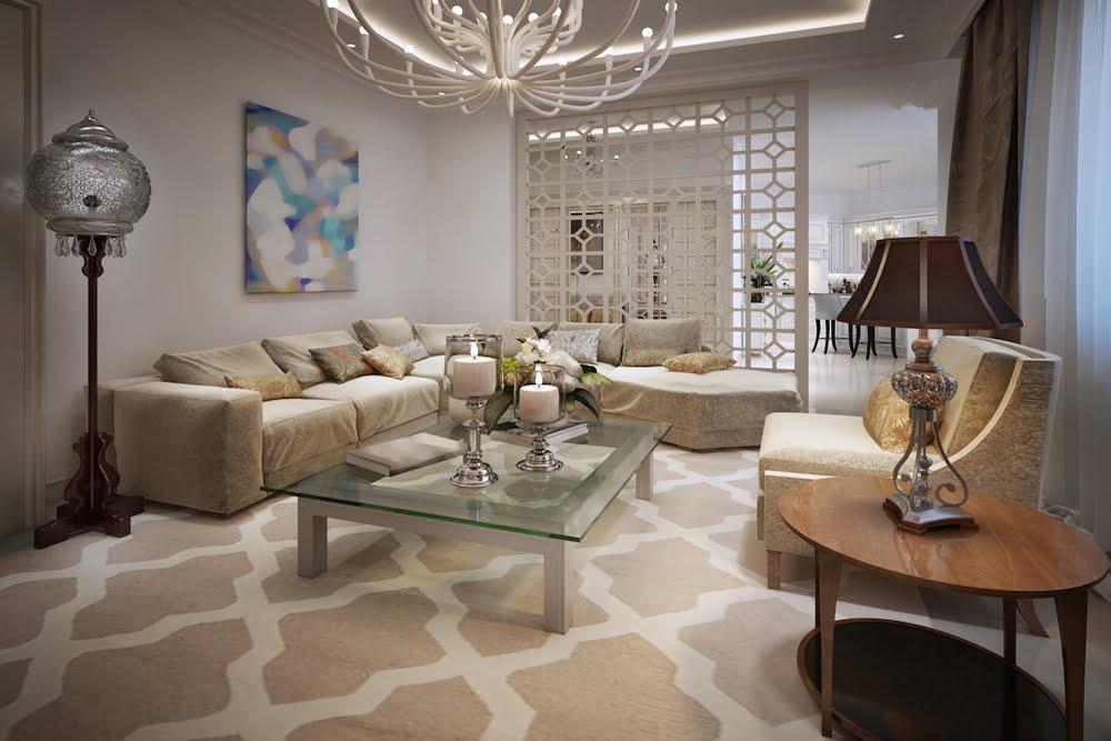como decorar un salon estilo arabe