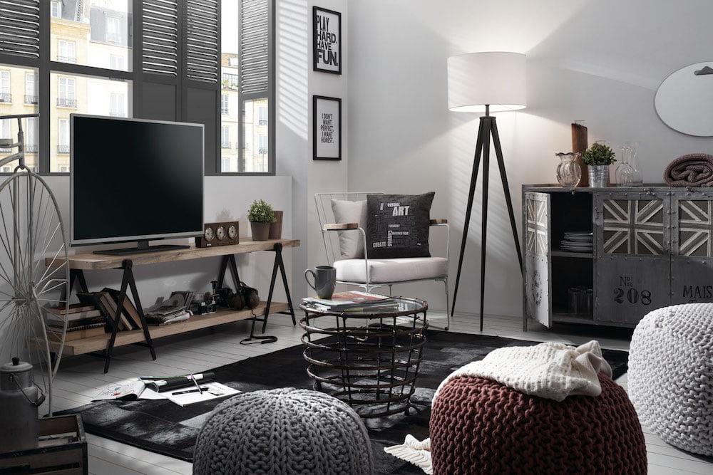 como decorar una sala pequeña estilo vintage