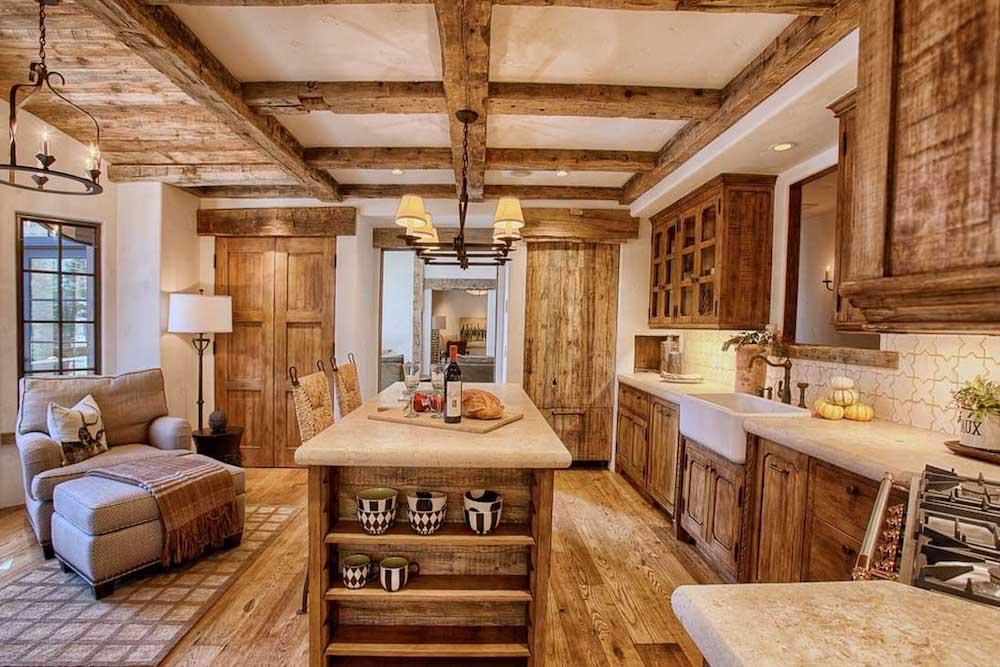 como pintar una cocina rustica