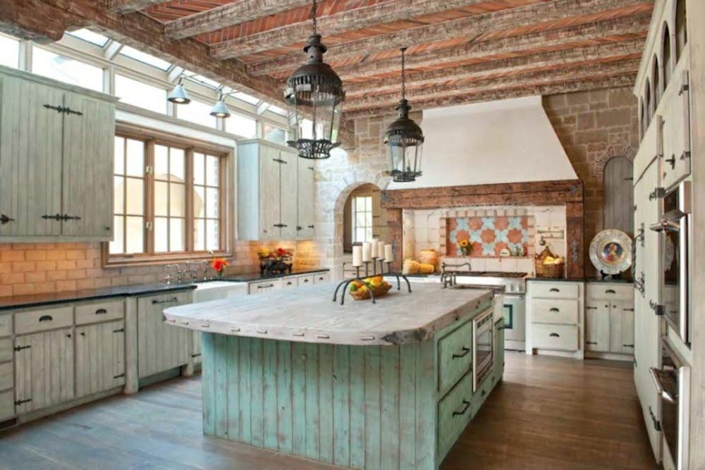 decoracion cocina rustica moderna