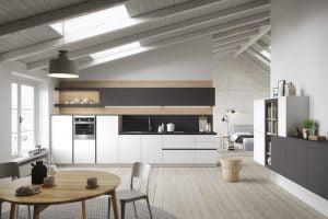 diseño cocina minimalista pequeña