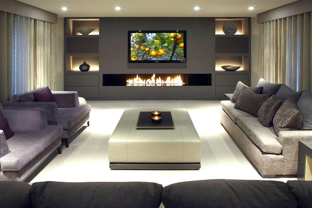 salón moderno con tecnología