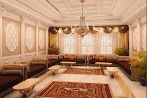 salon con decoracion arabe