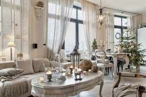 decorar salon shabby chic