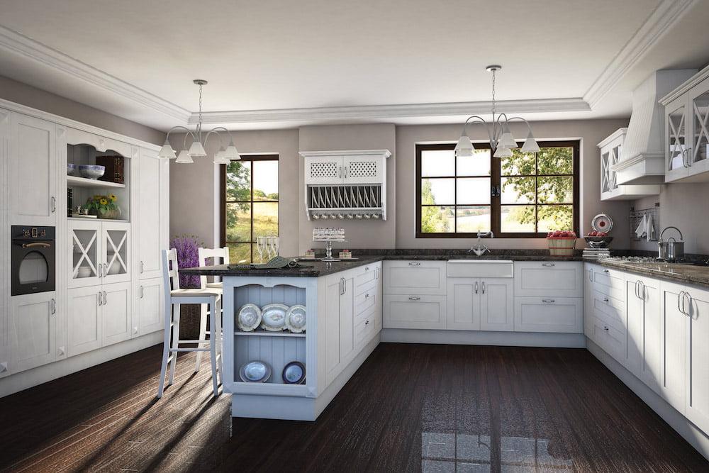 mueble de cocina de abedul sin terminar Cocina Romntica Una Decoracin Sencilla Y Elegante