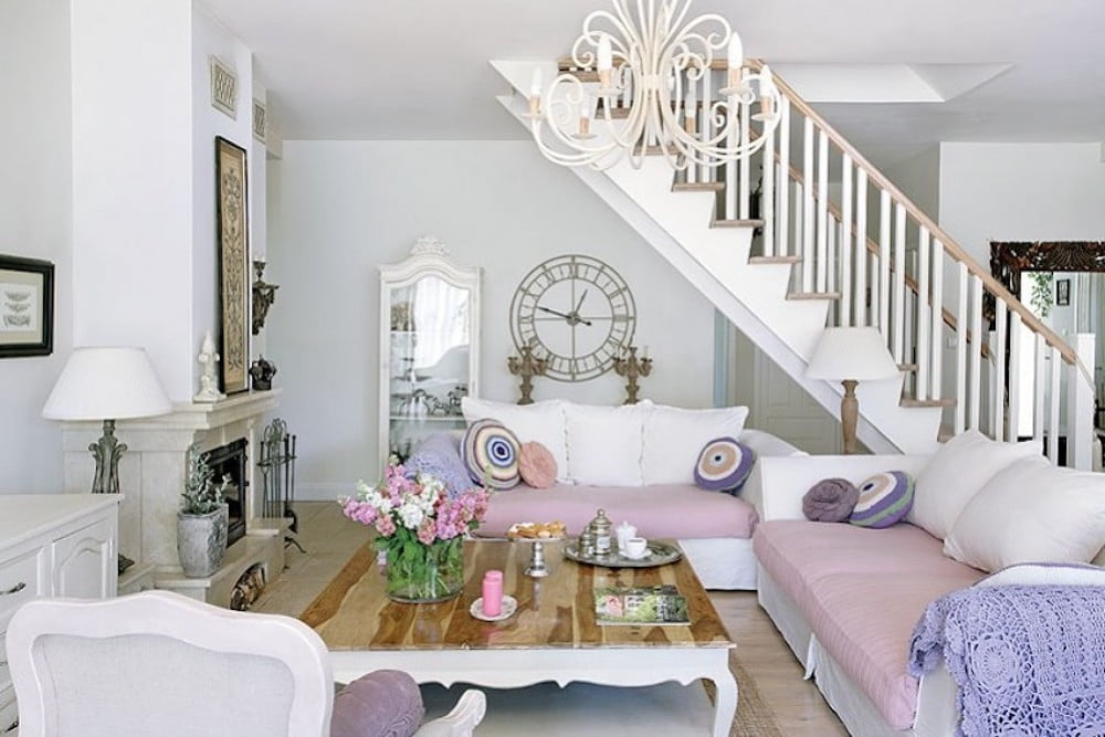 decoracion sala shabby chic