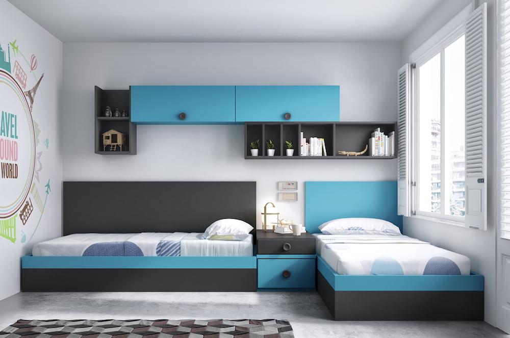 habitaciones pequeñas para dos niños