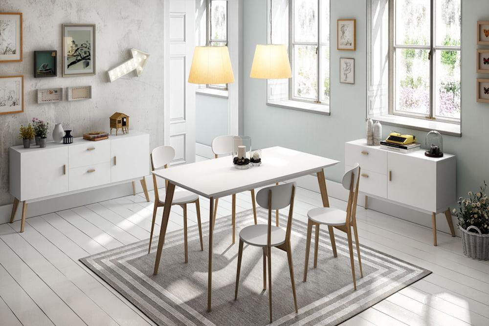 mesa comedor madera estilo nordico