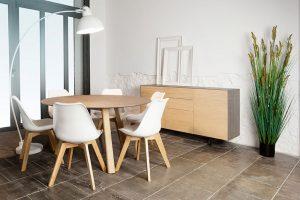 mesa comedor redonda estilo nordico