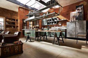 mesas de madera para comedor industrial