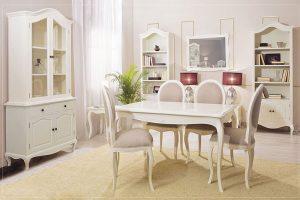 salon comedor estilo romantico