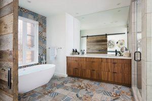 accesorios baño rustico