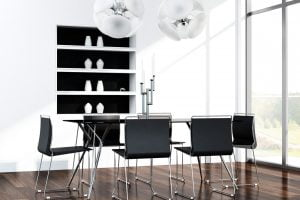 adornos para mesa de comedor minimalista