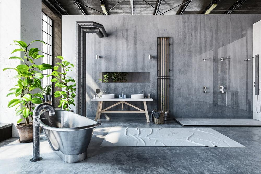 baño estilo industrial