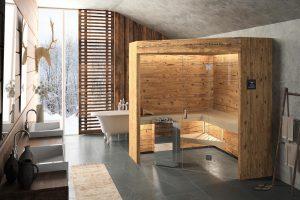 baño estilo rustico