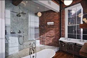 baño pequeño estilo industrial