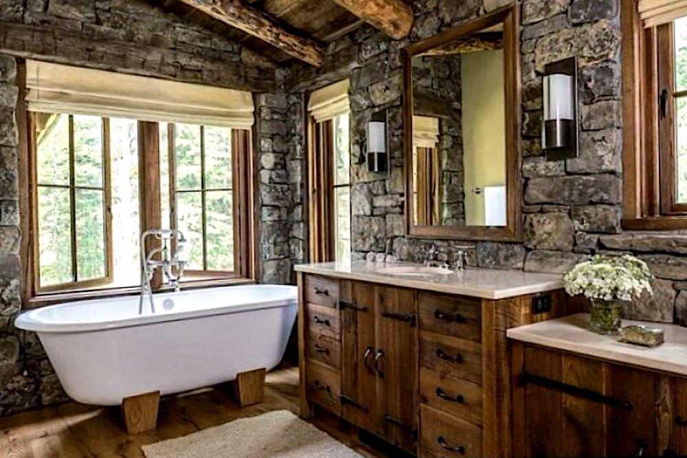 baños rusticos con encanto