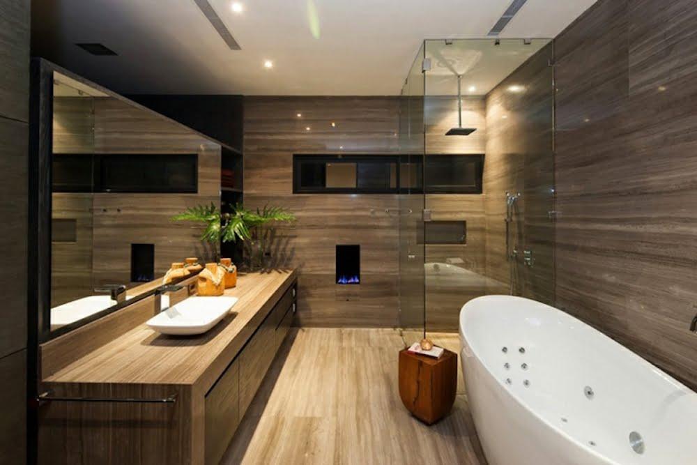 baños rusticos modernos