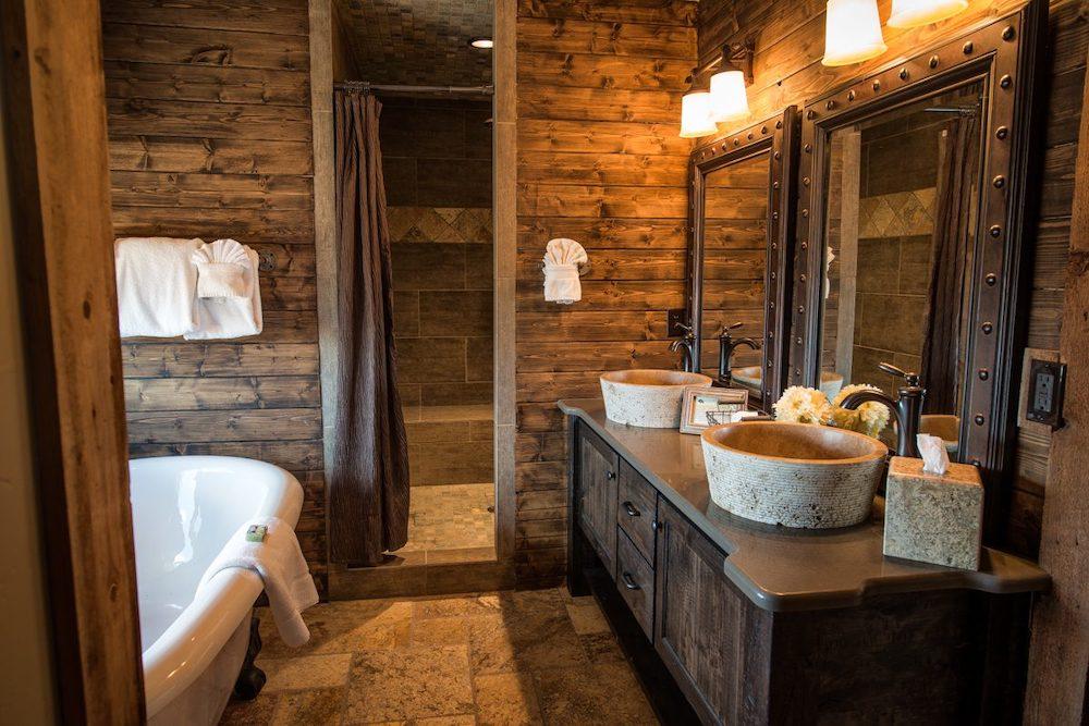 baños rusticos pequeños