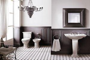 baños vintage modernos