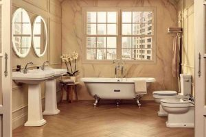 decoracion baños vintage